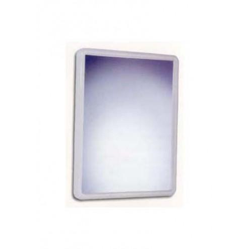 Espejo de baño cónico Plastisan 52301/5 blanco