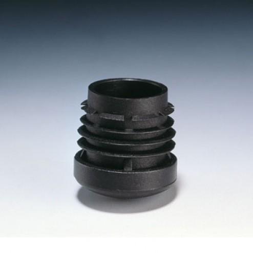 Contera redonda interior Inofix Ø 22mm. negra