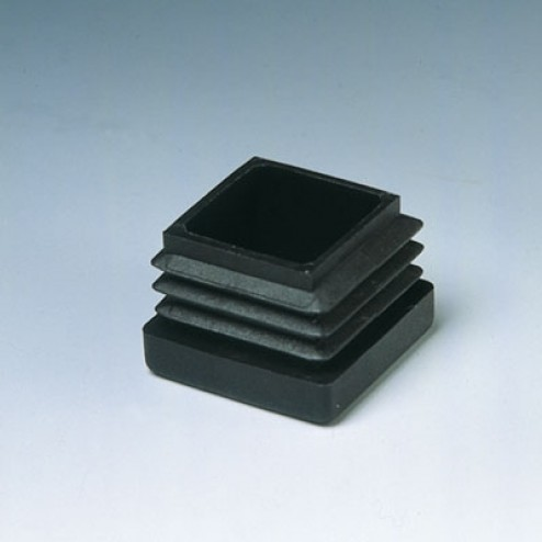 Contera interior cuadrada Inofix 40mm. negra