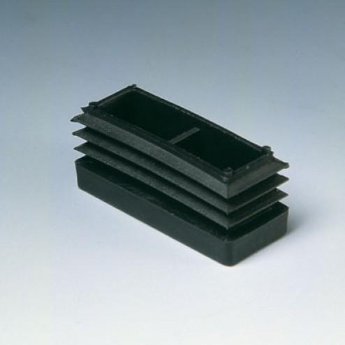 Contera interior rectangular Inofix 20x40mm. negra