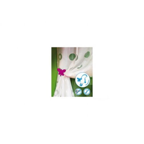 Recogecortina mariposa fucsia Ad679