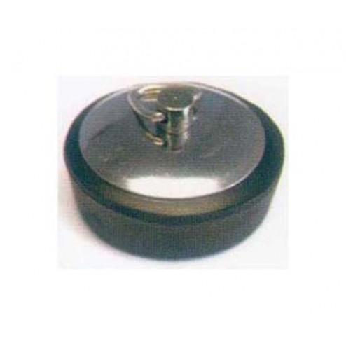 Tapón de goma chapa inox 40 mm.