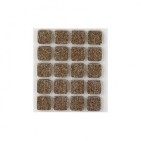 Fieltro de lana adhesivo 17 x 17mm. Inofix marrón