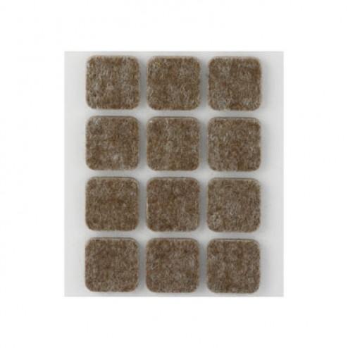 Fieltro de lana adhesivo 22 x 22mm. Inofix marrón