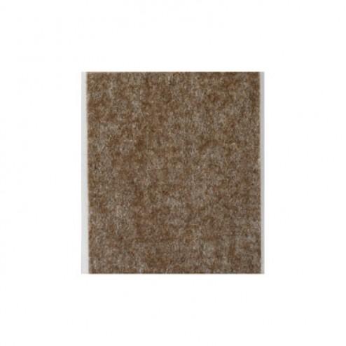 Fieltro de lana adhesivo 100 x 85mm. Inofix marrón