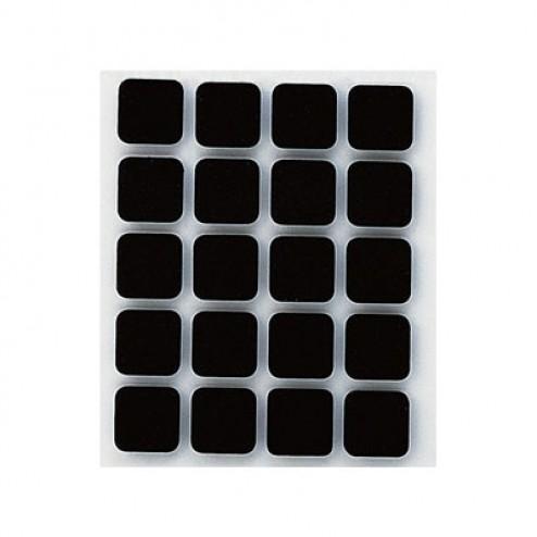 Antideslizante adhesivo Inofix negro テ・17x17mm.