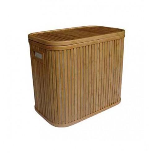Cubo Para Ropa Doble Bamboo 53.5x33x46.5