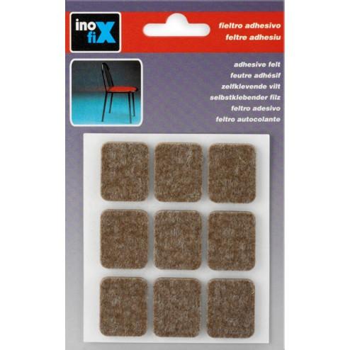 Fieltro de lana adhesivo 29 x 23mm. Inofix marrón