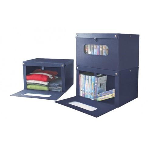 Caja front 43x34x25,5cm Aazul Plasticart
