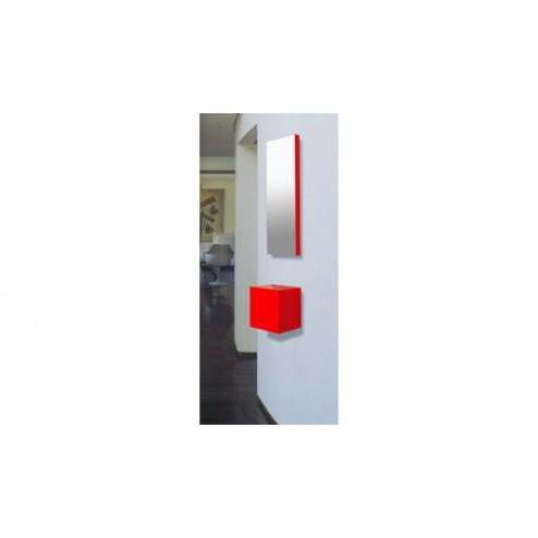 Espejo recibidor 25x75x4.5cm E101 Rojo