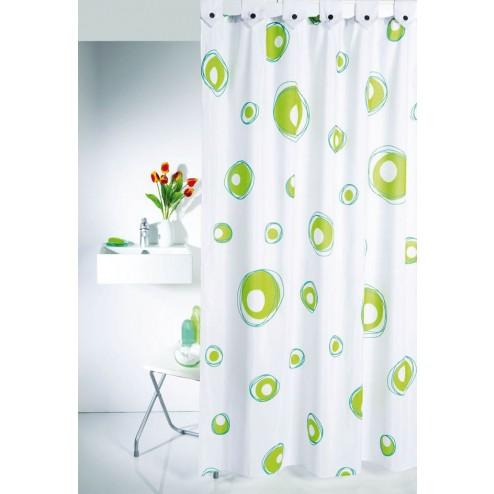 Cortina de baño Pompas verde