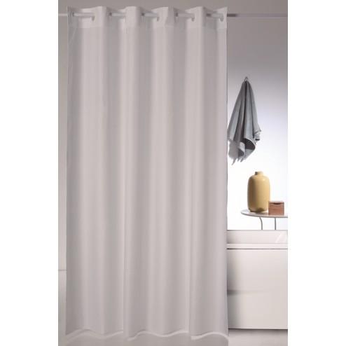 Cortina de ducha poliester Magica blanca