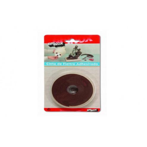 Cinta de fieltro adhesivo 25mm 200cm color Marrón