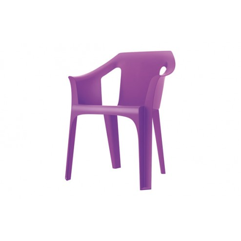 Sillon Resina Apilable Cool Resol Sscoc-Violeta