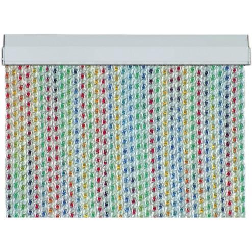 Cortina de cintas multicolor