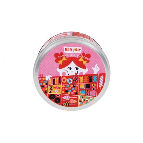 Caja metálica decorada para bombones