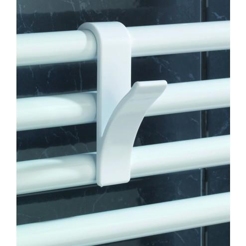 Colgador para radiador de baテアo blanco (2Uds.)