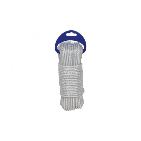 Cuerda Polietileno Cableada Plastificada 4 C Diam.5mm Kylate 25m Blanco
