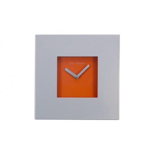 Reloj cuadrado aluminioynaranja Andrea house