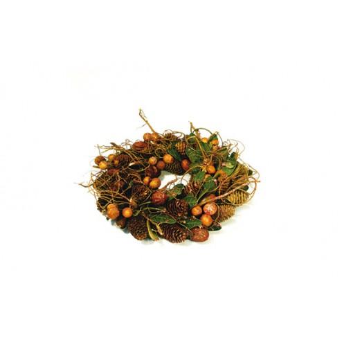 Aro natural decorativo con ramitas 32cm Casoa