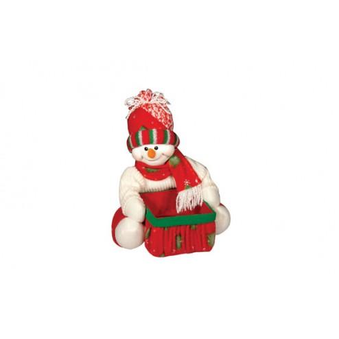 Muñeco nieve con cesto 24X20 CM Concoral