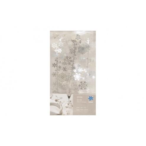 Cinta de decorativa metálica gris 70cm contento