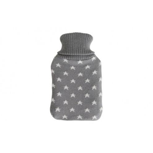 Bolsa de agua caliente con forro de lana gris 1l.