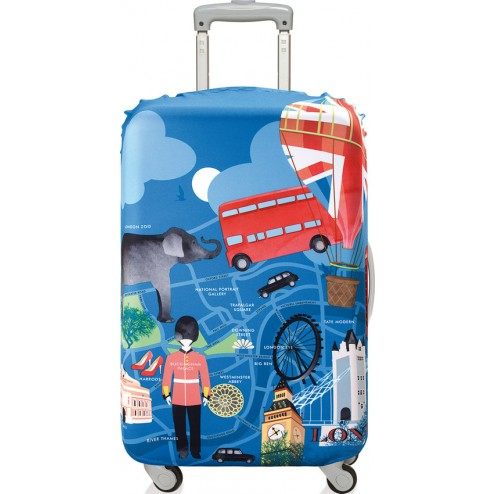 Funda para maleta decorada 58x65 London