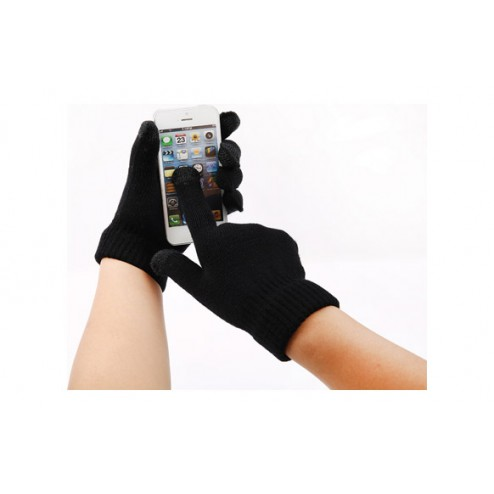 Guante touch movil Negro