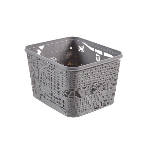 Caja Box New York 18L Gris 35x30x23cm