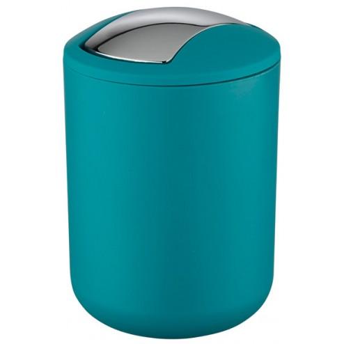 Cubo de basura para baño Brasil 2l. petrol