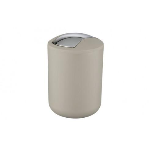 Cubo de basura para baño Brasil 2l. taupe