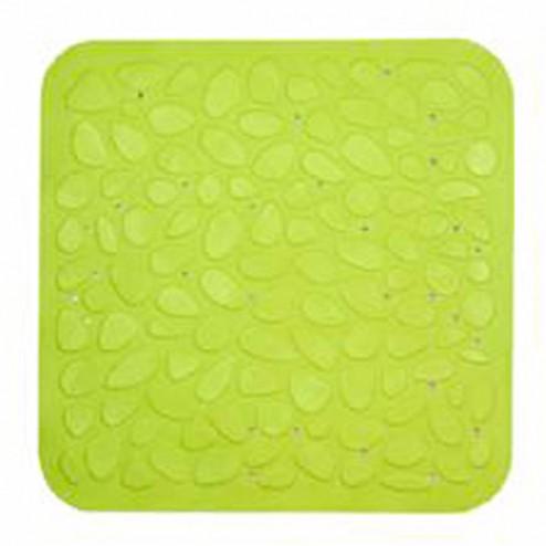 Alfombra baño caucho piedras 54x54 pistacho