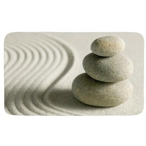 Alfombra baño poliester 40x75cm piedras y arena