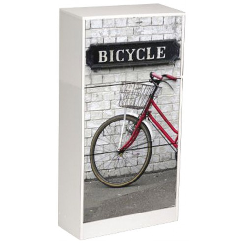Zapatero decorado bicicleta