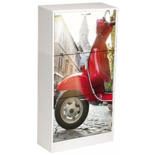 Zapatero decorado moto