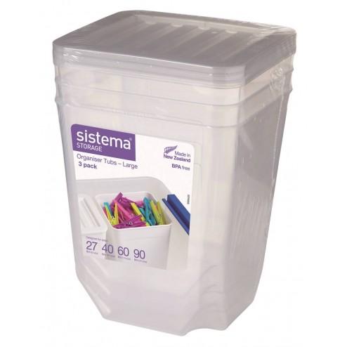 Organizadores de plástico de 1,8L (3 unidades).