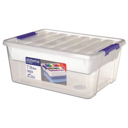 Organizador de plástico de 7,9L.