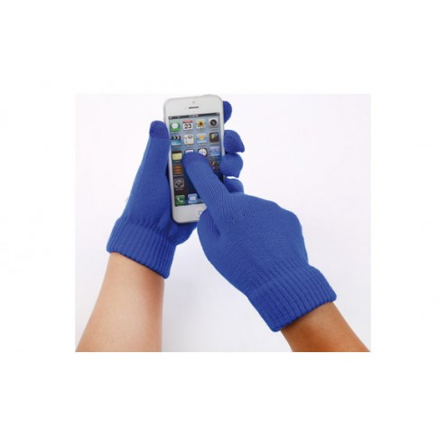 Guante touch movil azul