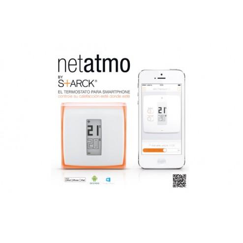 Termostato inteligente Netatmo para smartphone.