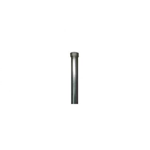 Tubo llave liso galvanizado chimenea 100x1mt