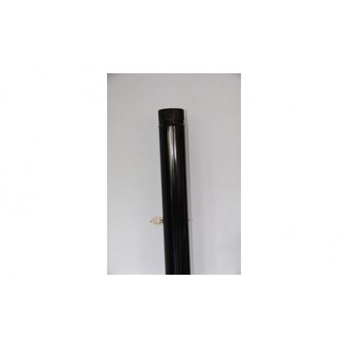Tubo liso vitrificado negro chimenea 150x1m.