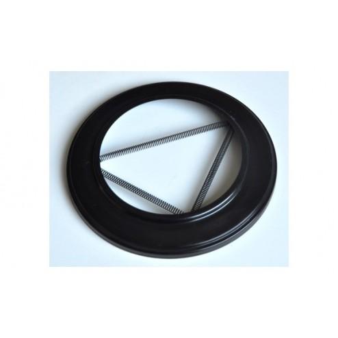 Roseton embellecedor vitrificado negro  120 mm