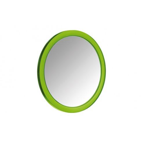 Espejo cosmetica con ventosa verde 5x