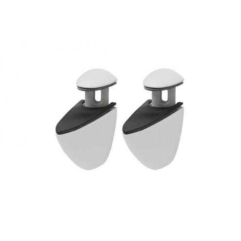 Clip portaestante basic maxi (2 un) blanco