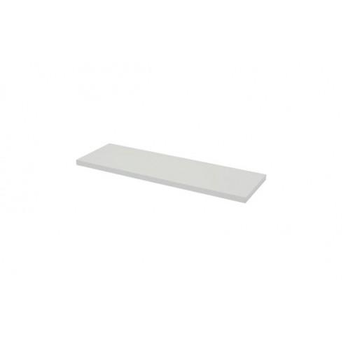Estante rectangular 4xs blanco brillo-1,8x60x20 cm
