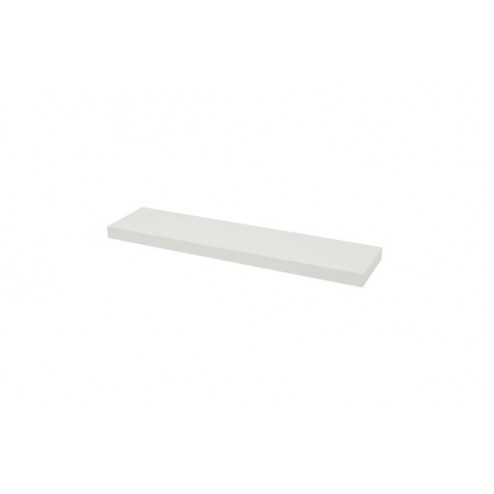 Estante atamborado rectangular xl4 blanco-3,8x80x20 cm