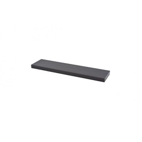 Estante atamborado rectangular xl4 wengue-3,8x80x20 cm