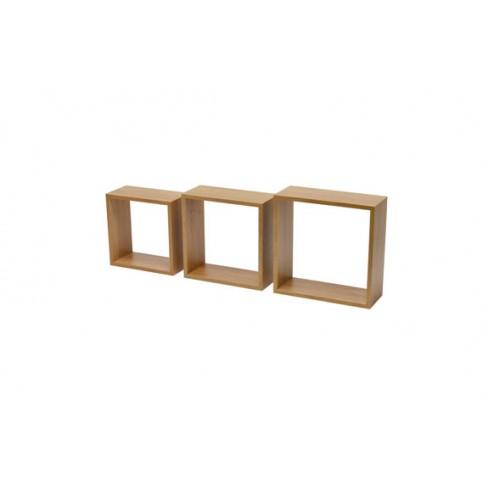 Estante cubo 3tc (kit 3 un) roble
