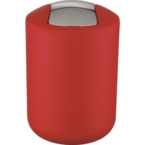 Cubo con tapa abatible 2l Brasil rojo